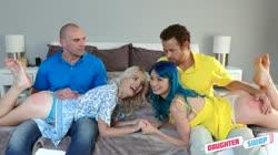 DaughterSwap Jewelz Blu, Kate Bloom - A Secret Nude Daughter Party
