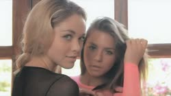 Lesbian teen girls love each other